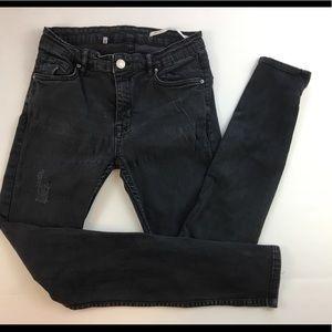 Zara Women Slim fit Mid-Rise Black Size 24 -b12